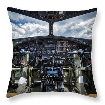 B-17 Bomber Throw Pillow