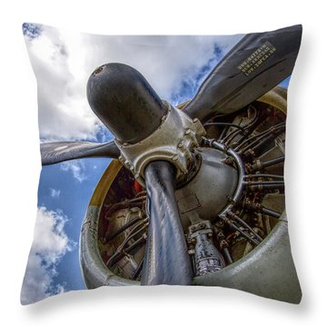 B-17 Engine Throw Pillow