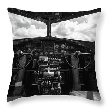 B-17 Flying Fortress Cockpit Throw Pillow