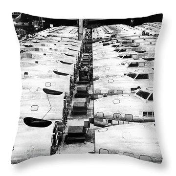 B-17 Fortress Factory Throw Pillow