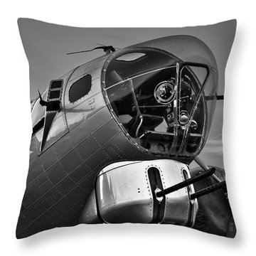 B-17 Nose Throw Pillow