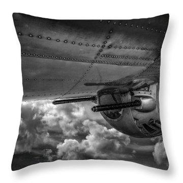 B17 Turret Throw Pillow