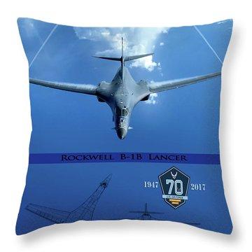 B-1b Breaking Barriers Throw Pillow
