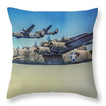 B-24 Liberator Bomber Throw Pillow