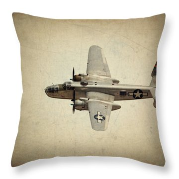 B-25j    Miss Mitchell Throw Pillow
