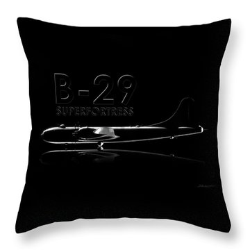 B-29 Superfortress Throw Pillow by David Collins