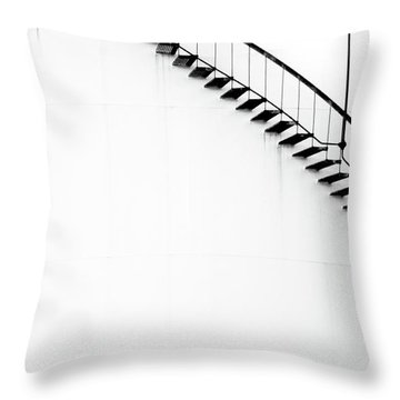 B And W Stairs Throw Pillow