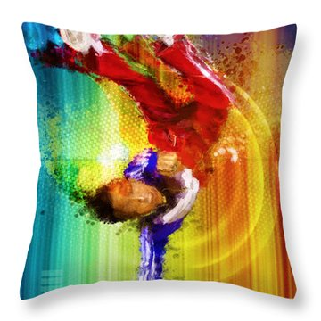 B Boyyyeeee Throw Pillow
