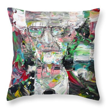 B. F. Skinner Portrait Throw Pillow