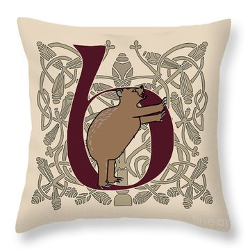 Throw Pillow featuring the digital art B Is For Bear by Donna Huntriss