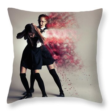B U L L Y Throw Pillow