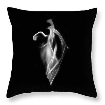 B/w Flame 7092 Throw Pillow