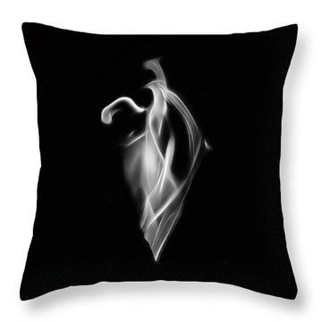 B/w Flame 7092 Throw Pillow