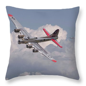 Throw Pillow featuring the photograph B17 - The Last Lap by Pat Speirs