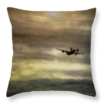 B24 In Flight Throw Pillow