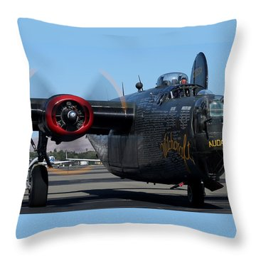 B24 Liberator Ready To Taxi Memorial Day Weekend 2015 Throw Pillow