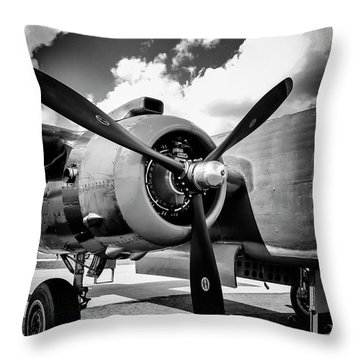 B25 Radial Engine Throw Pillow