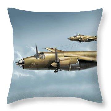 B26 Mk Throw Pillow by Daniel Uhr