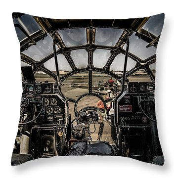 B29 Superfortress Fifi Cockpit View Throw Pillow