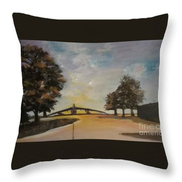 Throw Pillow featuring the painting B52 by Saundra Johnson