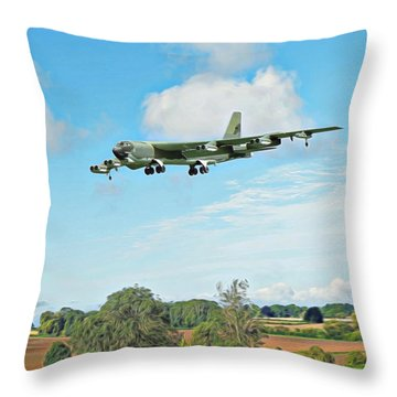 B52 Stratofortress -2 Throw Pillow