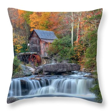 Babcock Grist Mill  II Throw Pillow