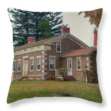 Throw Pillow featuring the photograph Babcock House Autumn 13937 by Guy Whiteley