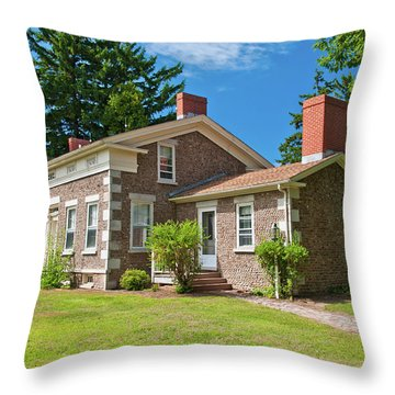 Throw Pillow featuring the photograph Babcock House Museum 2250 by Guy Whiteley