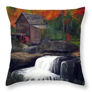 Babcock Mill Throw Pillow by Timothy Smith