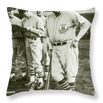 Babe Ruth All Stars Throw Pillow by Jon Neidert