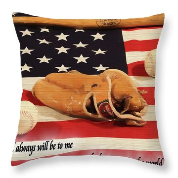 Babe Ruth Baseball Quote Throw Pillow by Dan Sproul