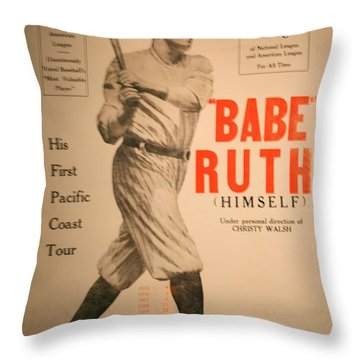 Babe Ruth Old Banner Throw Pillow