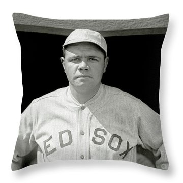 Babe Ruth Red Sox Throw Pillow