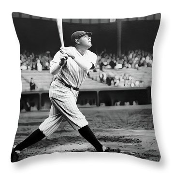 Babe Ruth Swing 62717 Throw Pillow