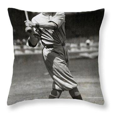 Babe Ruth Swings C. 1916 Throw Pillow