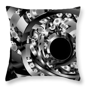 Throw Pillow featuring the digital art Babel by Lynda Lehmann