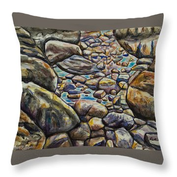 Babeling Brook Throw Pillow by Heather Kertzer