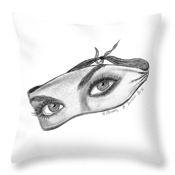 Babemask Throw Pillow
