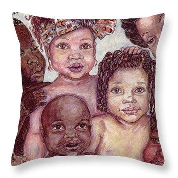 Babes Throw Pillow