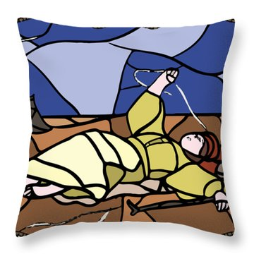 Babie Lato Stained Glass Version Throw Pillow