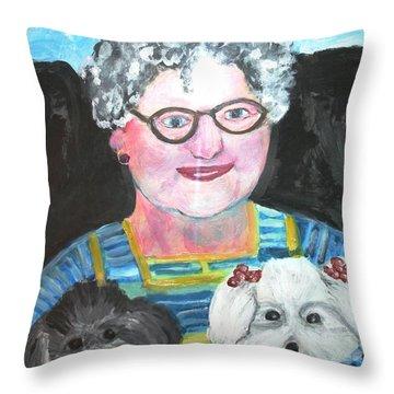Babka, Puppies Throw Pillow