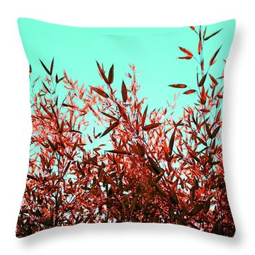 Throw Pillow featuring the photograph Baby Bamboo - Ochre  by Rebecca Harman