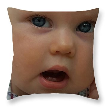 Baby Beauty Throw Pillow