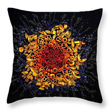 Baby Bell Peppers Throw Pillow