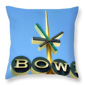 Baby Blue Bowl Throw Pillow