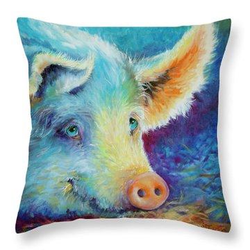 Baby Blues Piggy Throw Pillow