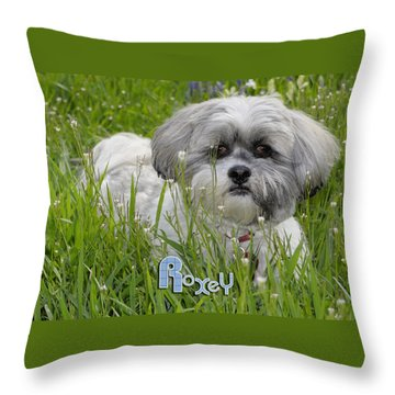 Baby Breath Tote Throw Pillow by Arthur Fix