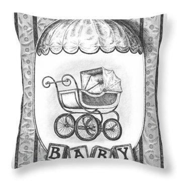 Baby Carriage Throw Pillow by Adam Zebediah Joseph