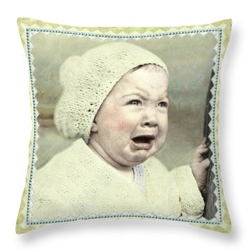 Baby Cries Throw Pillow