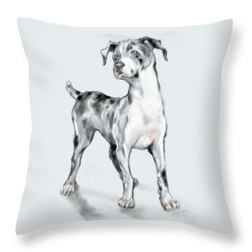 Baby Dane Throw Pillow